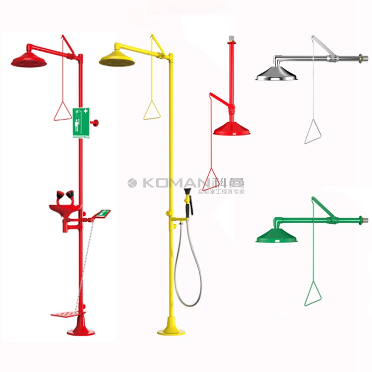 Laboratory Furniture Chemical Resistant Emergency Safety Shower and Eye Wash