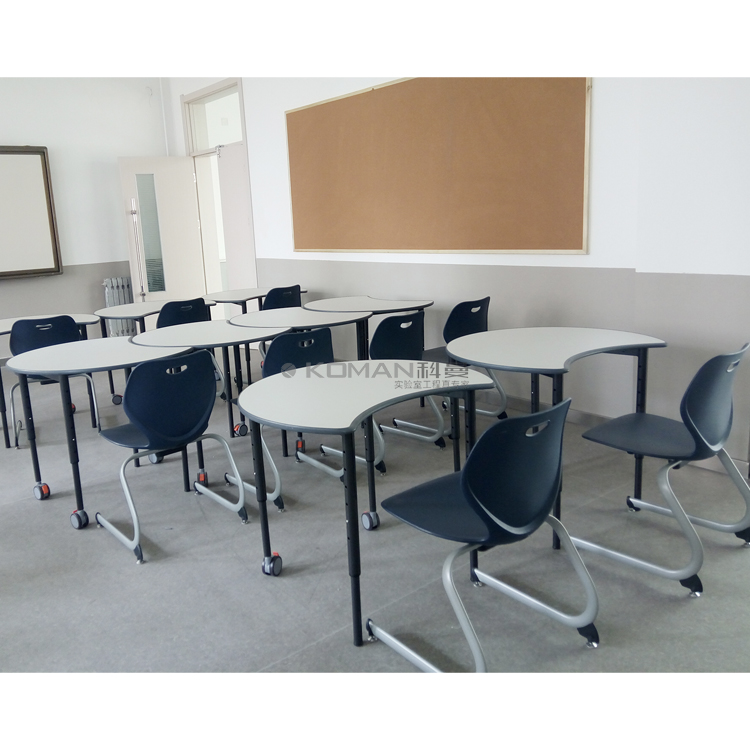 School lab table and chair
